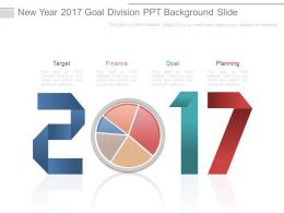 New Year 2017 Goal Division Ppt Background Slide