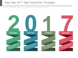 New Year 2017 Tags Powerpoint Templates