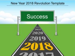 New Year 2018 Revolution Template Powerpoint Slides Deck