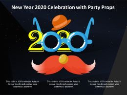 New Year 2020 Celebration With Party Props Ppt Inspiration