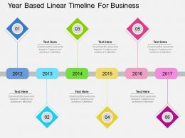 new Year Based Linear Timeline For Business Flat Powerpoint Design