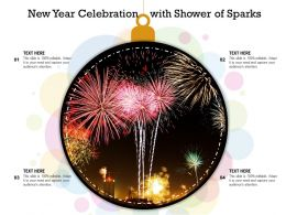 New Year Celebration With Shower Of Sparks