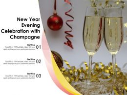 New Year Evening Celebration With Champagne