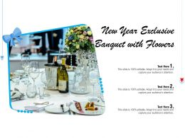 New Year Exclusive Banquet With Flowers