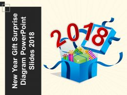 New Year Gift Surprise Diagram Powerpoint Slides 2018
