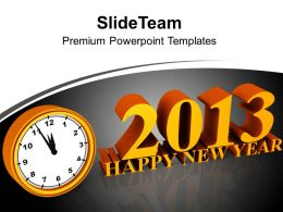New Year Midnight Design Layout PowerPoint Templates PPT Backgrounds For Slides 0113