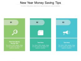 New Year Money Saving Tips Ppt Powerpoint Presentation File Example Topics Cpb