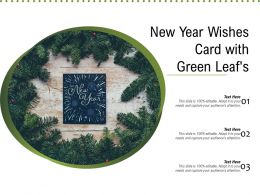 New Year Wishes Card With Green Leafs
