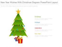 New Year Wishes With Christmas Diagram Powerpoint Layout