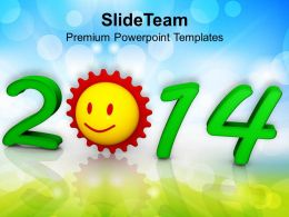 New Years Sunrise Festival Theme PowerPoint Templates PPT Backgrounds For Slides 1113