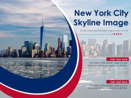 New York City Skyline Image Powerpoint Presentation PPT Template