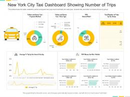 New York City Taxi Dashboard Showing Number Of Trips Powerpoint Template