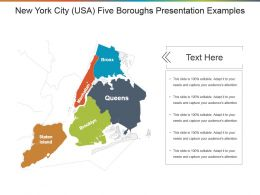 New York City Usa Five Boroughs Presentation Examples