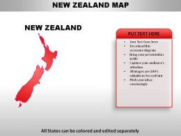 New Zealand Country Powerpoint Maps