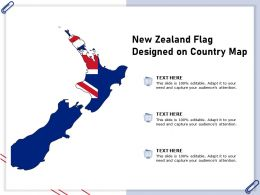 New Zealand Flag Designed On Country Map