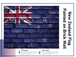 New Zealand Flag Painted On Brick Wall