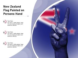 New Zealand Flag Painted On Persons Hand