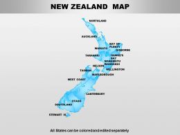 New Zealand Powerpoint Maps