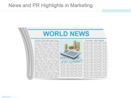 News And Pr Highlights In Marketing Powerpoint Templates