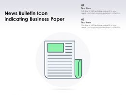 News Bulletin Icon Indicating Business Paper