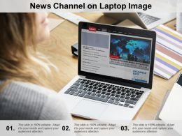 News Channel On Laptop Image