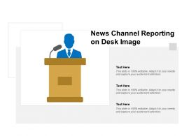 News Channel Reporting On Desk Image