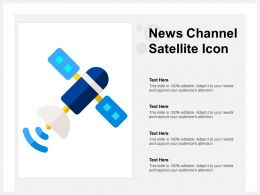 News Channel Satellite Icon