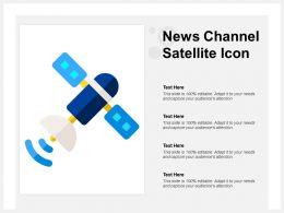 News Channel Satellite Icon
