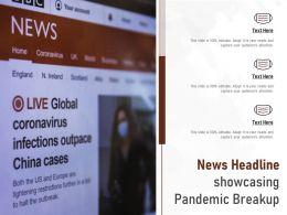 News Headline Showcasing Pandemic Breakup