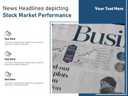 News Headlines Depicting Stock Market Performance