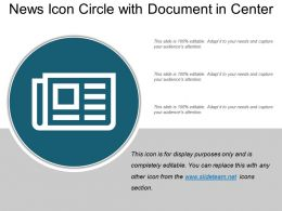 News Icon Circle With Document In Center