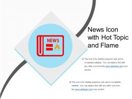 News Icon With Hot Topic And Flame
