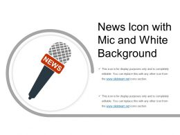 News Icon With Mic And White Background