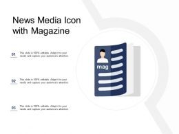 News Media Icon With Magazine