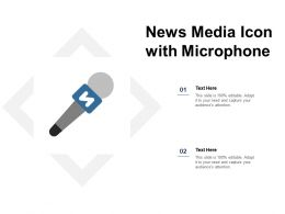 News Media Icon With Microphone