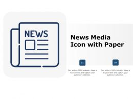 News Media Icon With Paper