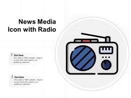 News Media Icon With Radio
