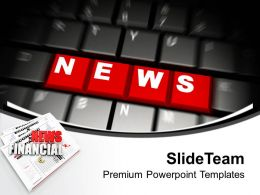 News On Computer Keyboard Future Powerpoint Templates Ppt Themes And Graphics 0213
