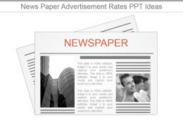 News Paper Advertisement Rates Ppt Ideas