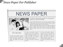 News Paper For Publisher Powerpoint Slide Design Templates