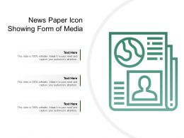 News Paper Icon Showing Form Of Media