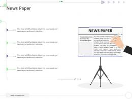 News Paper Mckinsey 7s Strategic Framework Project Management Ppt Template