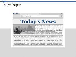 News Paper Ppt Model