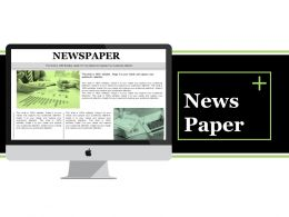 News Paper Ppt Visual Aids Backgrounds