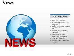 News Powerpoint Presentation Slides