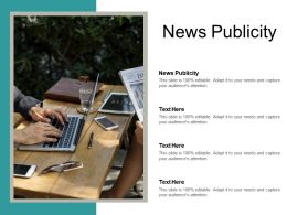 News Publicity Ppt Powerpoint Presentation Gallery Graphics Example Cpb