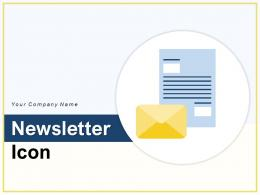 Newsletter Icon Product Information Performance Informative Illustrating Marketing