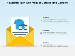 Newsletter Icon With Product Catalog And Coupons