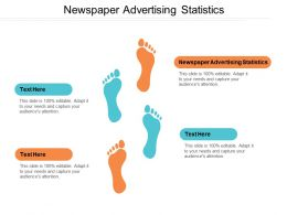 Newspaper Advertising Statistics Ppt Powerpoint Presentation File Brochure Cpb