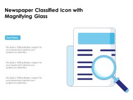Newspaper Classified Icon With Magnifying Glass